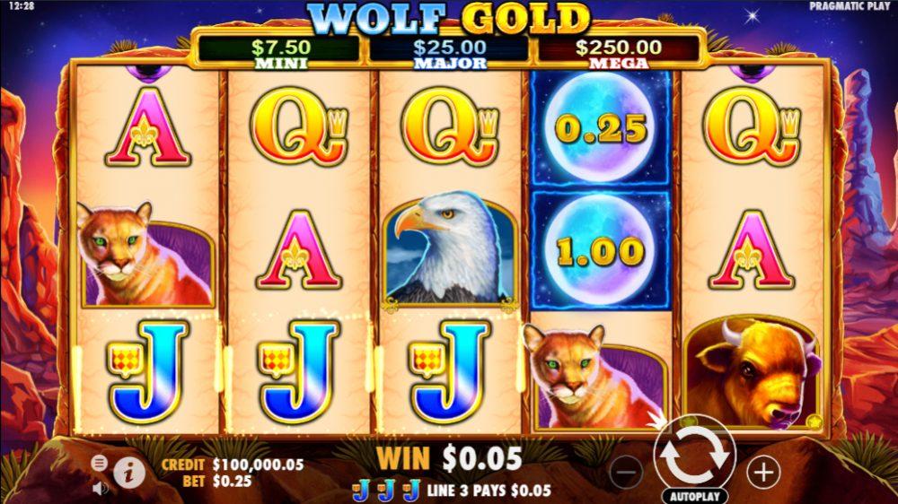 Gold Wolf symbols
