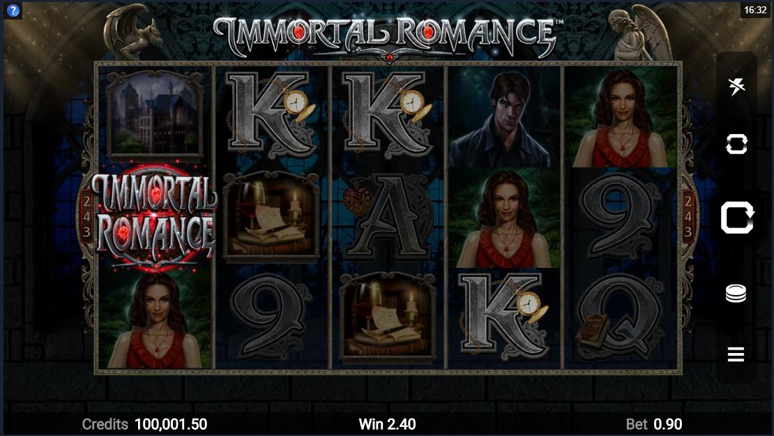 Immortal Romance reels design
