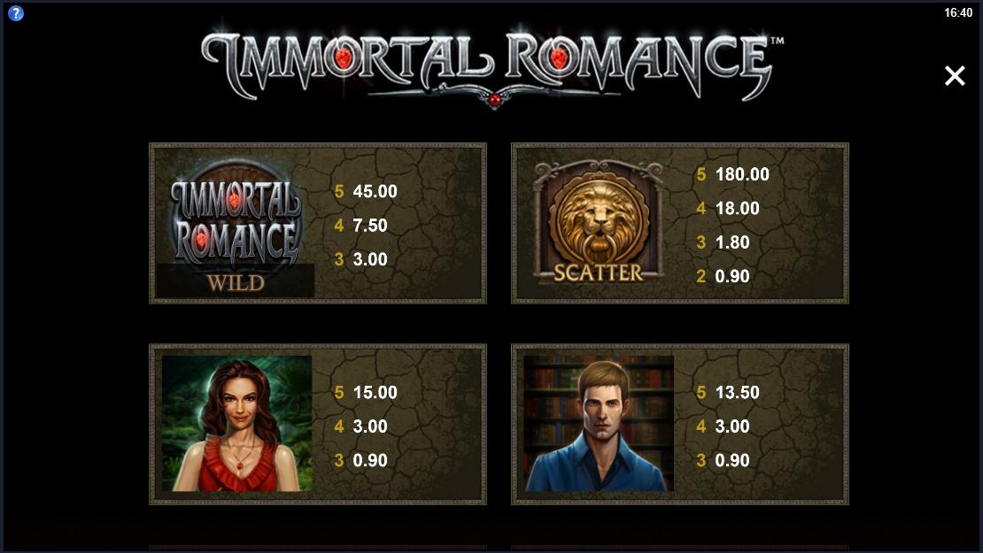 Immortal romance symbols 1
