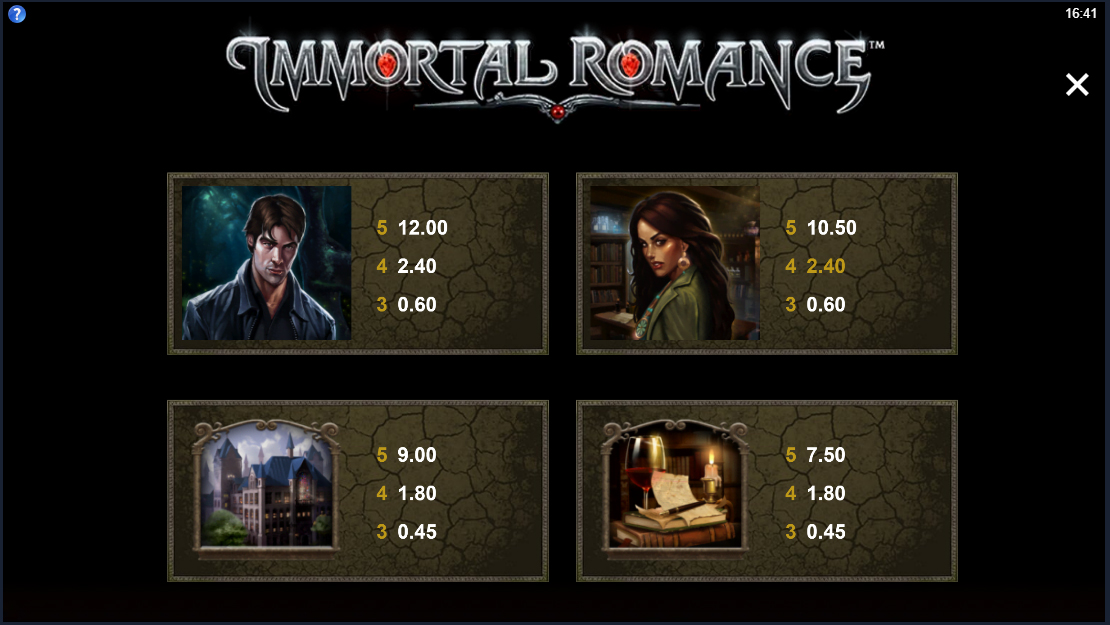 Immortal romance slot symbols 2