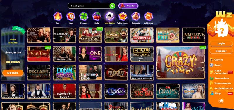 Wazamba Ireland Live Casino